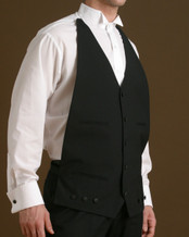 Vest with elastic at the back