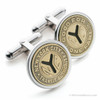 Sterling Silver NYC Subway Token Cufflinks