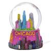 Colorful Chicago Skyline Snow Globe