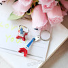 Red, White & Blue 3D Eiffel Tower Key Chain