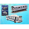 NYC Subway Car and Bus 3D Puzzle