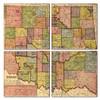Oklahoma Map Coaster Set of 4
