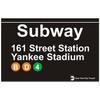 Yankee Stadium Subway Magnet