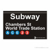 World Trade Center Station Subway Magnet