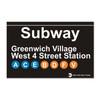 Greenwich Village Subway Magnet