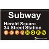 Herald Square Station Subway Magnet