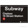 Chelsea Replica Subway Sign