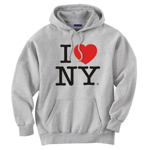 I Love NY Gray Hooded Sweatshirt