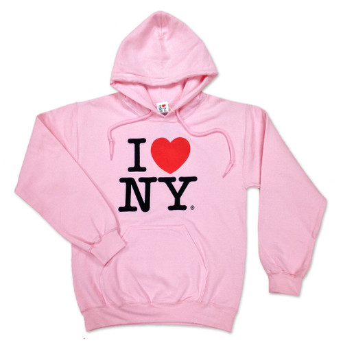I Love NY Pink Hooded Sweatshirt