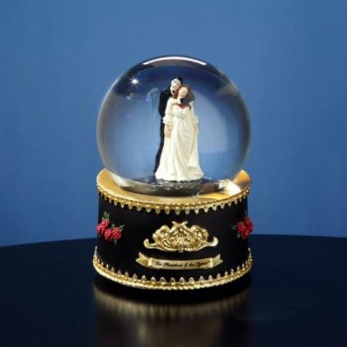 Phantom and Christine Rotating Snow Globe