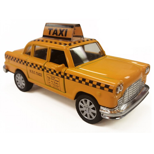 Diecast NYC Taxi car yellow