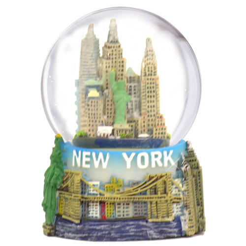 Mini New York Skyline Snow Globe Souvenir