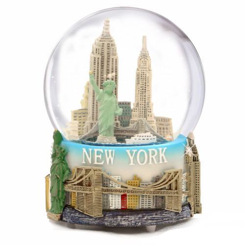 NYC Musical Snow Globe Souvenir