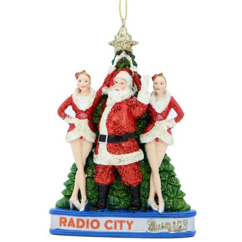 rockettes and santa ornament