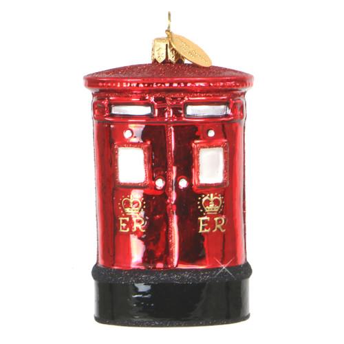 London Post Box Ornament - Glass