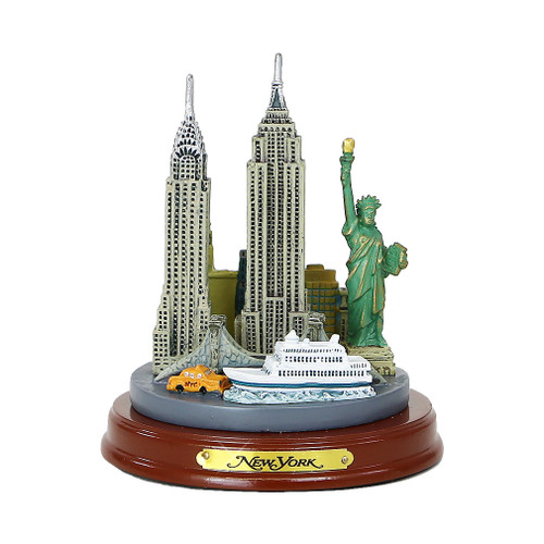 Wooden Base New York City Model