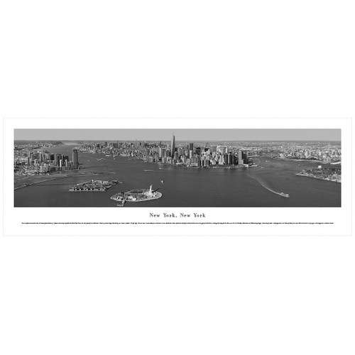 Panoramic Black & White NYC Skyline Poster