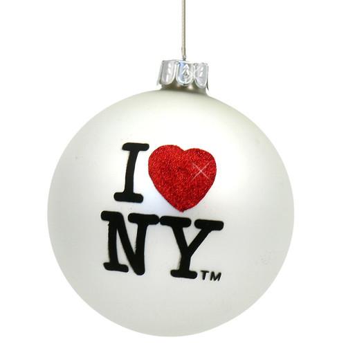 I Love NY Christmas Ornaments, glass ball