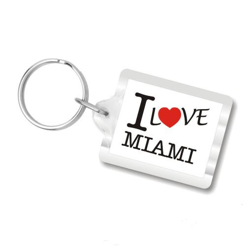 I Love Miami Plastic Key Chains, I Heart Miami