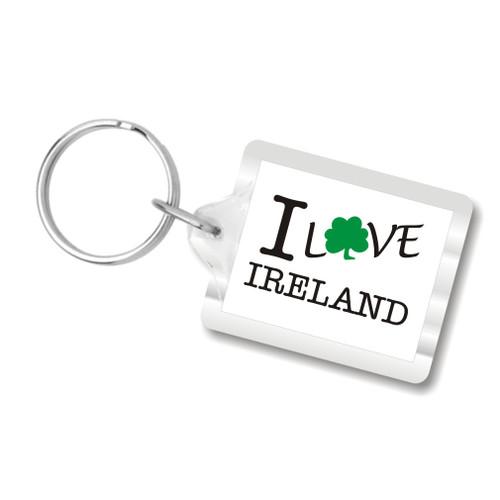 I Love Ireland Keychains, I heart ireland, i shamrock ireland, i clover ireland