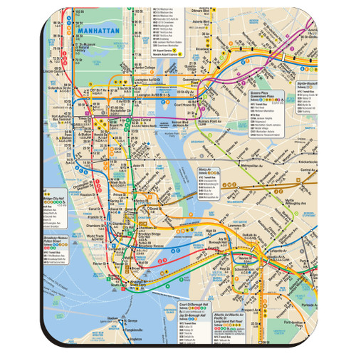 MTA New York City Subway Mouse Pad