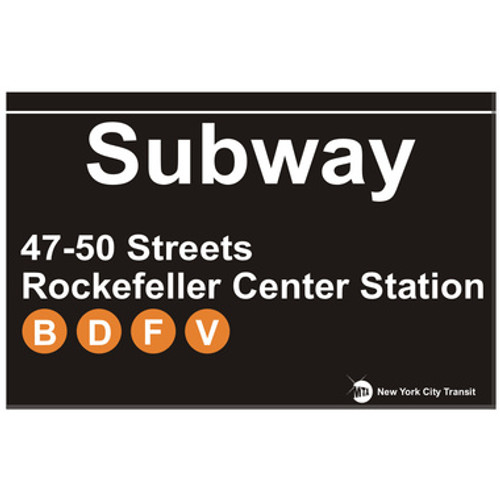 Rockefeller Center Subway Magnet