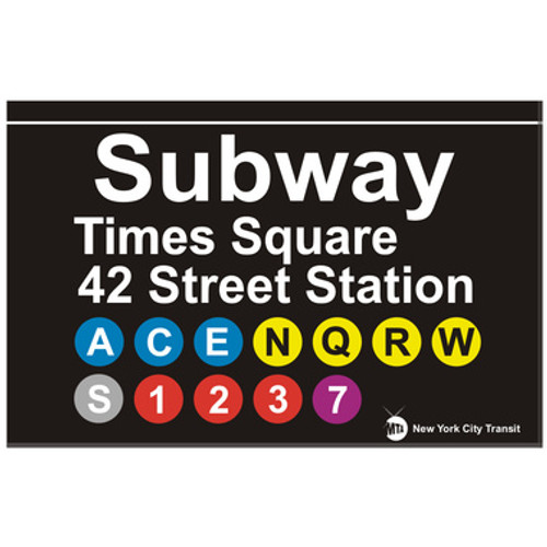Times Square Replica Subway Sign