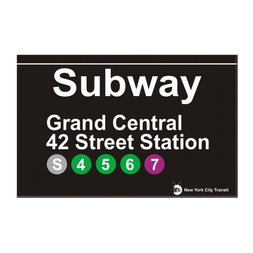 Grand Central Station Replica Subway Sign