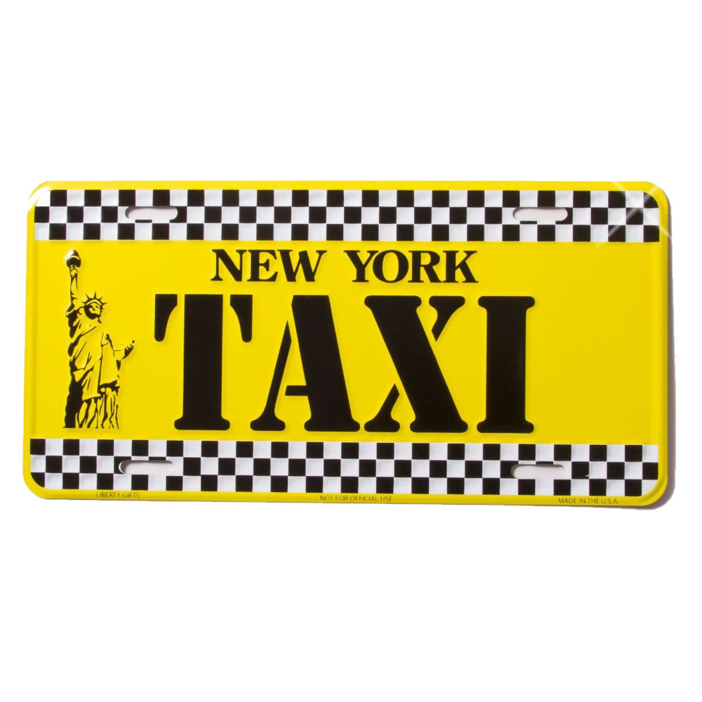 new york taxi license plate. Black Bedroom Furniture Sets. Home Design Ideas