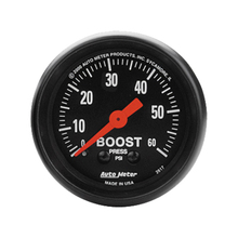Auto Meter Z-Series Boost Gauge