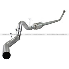 "ATLAS 4"" Turbo-Back Aluminized Steel Exhaust System; Dodge Diesel Trucks 94-02 L6-5.9L"