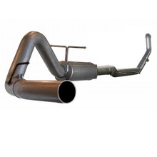"LARGE Bore HD 4"" Turbo-Back Stainless Steel Exhaust System; Ford Diesel Trucks"