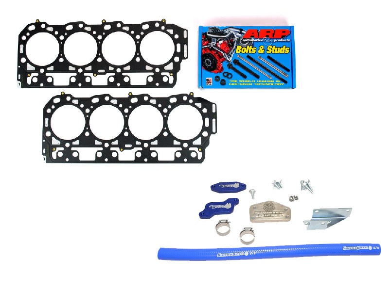 Complete Solution for Chevy 6 6L Duramax LLY with Sinister EGR Delete Kit,  ARP Head Studs