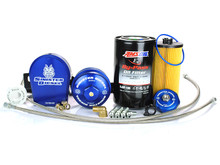 Sinister Diesel Bypass Oil Filter System for Ford Powerstroke 2003-2007 6.0L w/ Factory Replacement Filter