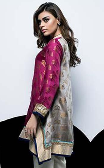 Designer Sania Maskatiya Dresses Orange  02