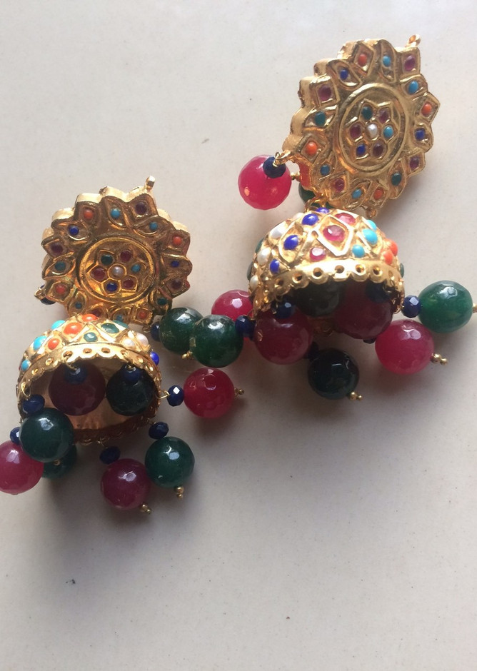buy Artificial Fashion Jewelry Earrings Jhoomki Multicolor