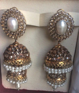 images  Artificial Fashion Jewelry Double Jhoomki with pearls