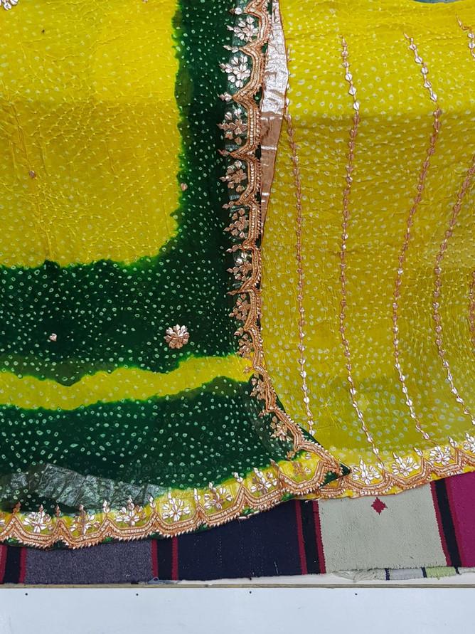 Badla Mukaish Gota Embroidery Suit Canada 1