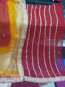 Badla Mukaish Gota Embroidery Suit Washington