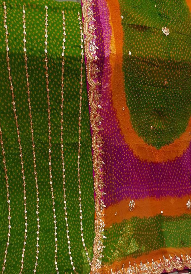 Badla Mukaish Gota Embroidery Suit Dubai 1
