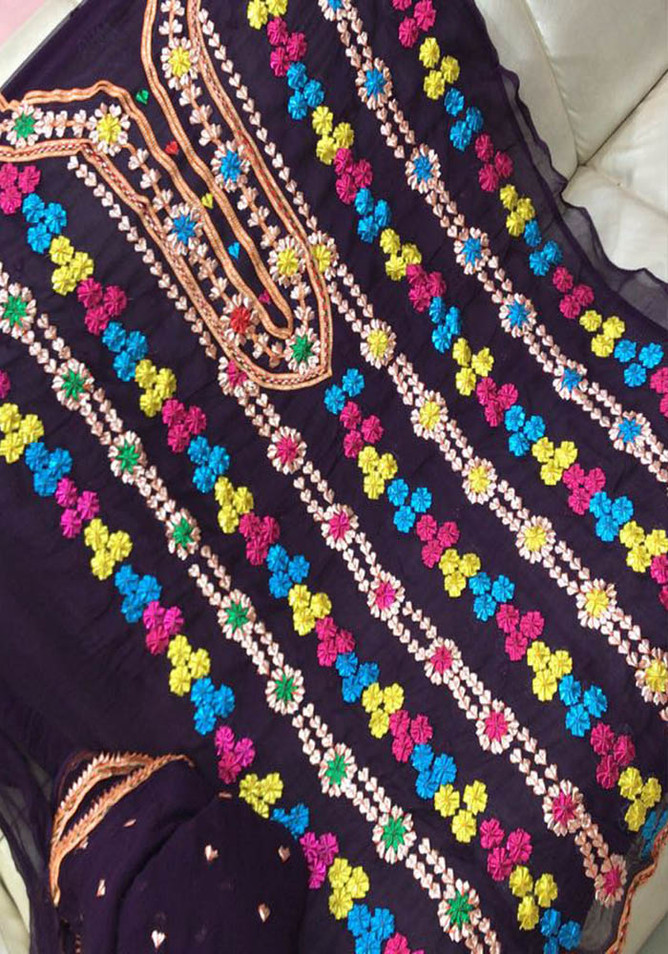 Badla Mukaish Gota Embroidery Pakistan 1