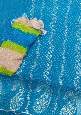 Badla Mukaish Gota Embroidery Toronto 1