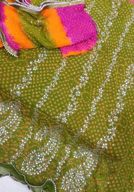 Badla Mukaish Gota Embroidery Vancouver 1