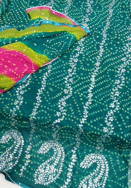Badla Mukaish Gota Embroidery Vista 1