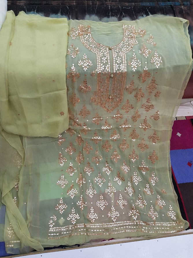 shop Badla Mukaish Gota Embroidery London