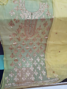 shop Badla Mukaish Gota Embroidery London with prices