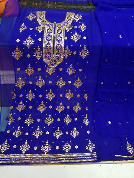 Badla Mukaish Gota Embroidery Karachi with prices