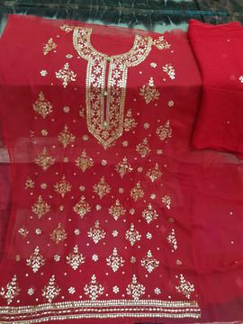 buy Badla Mukaish Gota Embroidery Chicago