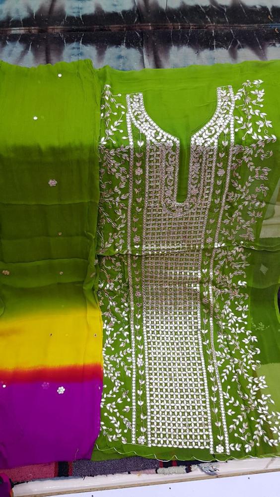 Badla Mukaish Gota Embroidery Vancouver