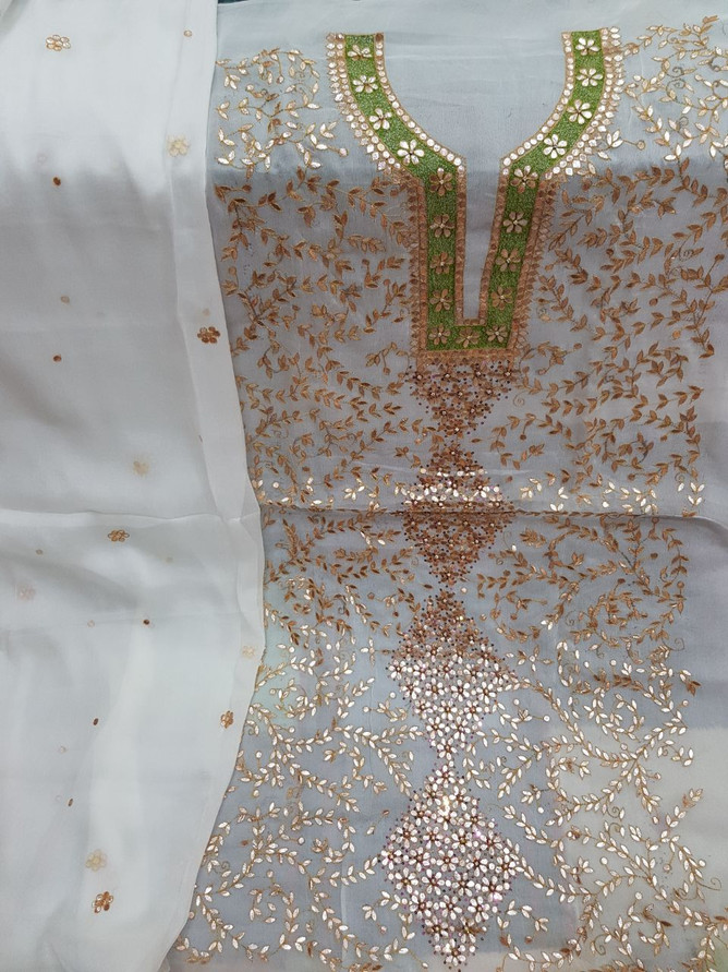 Badla Mukaish Gota Embroidery Valencia